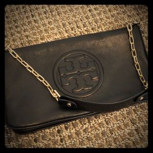 249f7c9f8607 ... Black and White bomber jacket Tory Burch Chic Shoulder bag and clutch  ...